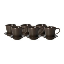 Bộ cốc Ikea Coffee cup and saucer, brown