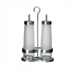 Lọ dầu giấm Ikea - DROPPAR (3-piece oil/ vinegar set)