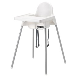 Ghế ăn dặm IKEA - ANTILOP Highchair with tray (Trắng / White)