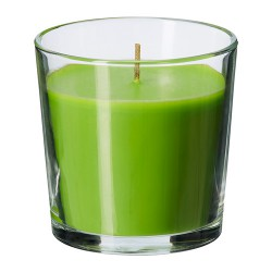 Nến thơm Ikea/ Scented candle in glass, Crisp apple, green