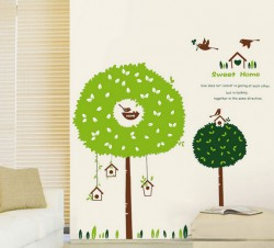 Decal sweet home tổ chim